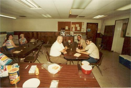 OIME Break room during Field Day in 84 or 85