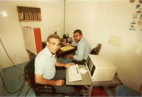 Taken during Field Day in 84 or 85 in the CW operating hut