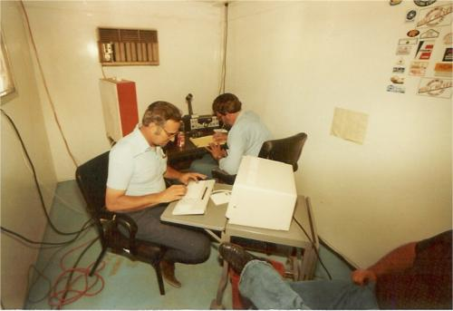 Taken during Field Day in 84 or 85 in the CW operating hut3